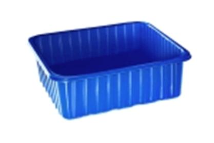 Синий пластиковый стаканчик 250 г