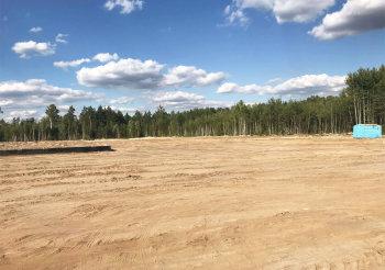 Площадка строительства грибного комплекса